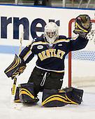 Kyle Rank (Bentley - 1) - The Northeastern University Huskies defeated the Bentley University Falcons 3-2 on Friday, October 16, 2009, at Matthews Arena in Boston, Massachusetts.