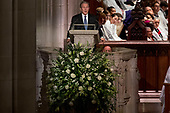 Former President George Bush speaks during the State Funeral of his father, former President George H.W. Bush, at the National Cathedral, Wednesday, Dec. 5, 2018,  in Washington. <br /> Credit: Andrew Harnik / Pool via CNP