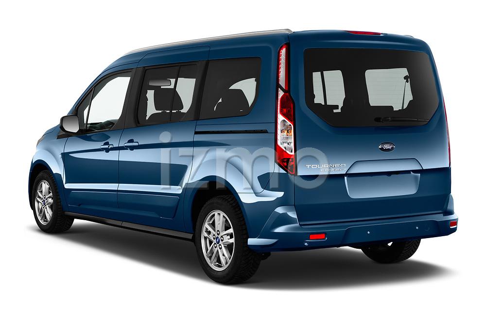Car pictures of rear three quarter view of 2020 Ford Grand-Tourneo-Connect Titanium 5 Door Minivan Angular Rear