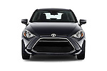 Car photography straight front view of a 2018 Toyota Yaris-iA AT 4 Door Sedan Front View