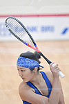 Satomi Watanabe (JPN), <br /> AUGUST 27, 2018 - Squash : Women's team Pool A match between Japan - Philippines at Gelora Bung Karno Squash Stadium during the 2018 Jakarta Palembang Asian Games in Jakarta, Indonesia. <br /> (Photo by MATSUO.K/AFLO SPORT)