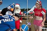 Finland vistiing a Wales village