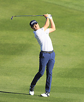 2nd February 2020, TPC Scottsdale, Arizona, USA;  Justin Thomas hits his approach shot on the second holeduring the final round of the Waste Management Phoenix Open
