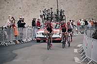 Tiesj Benoot (BEL/Lotto-Soudal), Tony Gallopin (FRA/Lotto-Soudal) &amp; Bauke Mollema (NED/Trek-Segafredo) up the highest point in the 2017 TdF: The Galibier (HC/2642m/17.7km/6.9%)<br /> <br /> 104th Tour de France 2017<br /> Stage 17 - La Mure &rsaquo; Serre-Chevalier (183km)