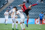 FC Seoul Forward Dejan Damjanovic (l) fights for the ball with Auckland City Midfielder Albert Riera (l) during the 2017 Lunar New Year Cup match between Auckland City FC (NZL) and FC Seoul ((KOR) on January 28, 2017 in Hong Kong, Hong Kong. Photo by Marcio Rodrigo Machado/Power Sport Images