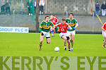 Kerry's David Moran and Cork's Fintan Goold.