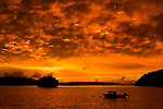 Boat at sunrise, Kapa Island, Vava'u, Tonga