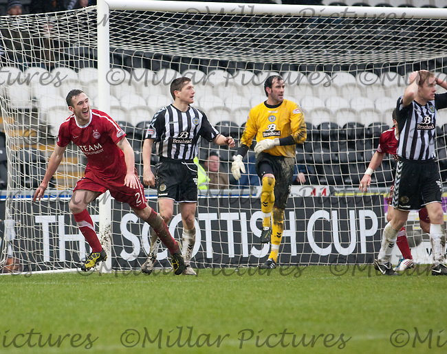 Rory McArdle turns away after scoring a late equalizer