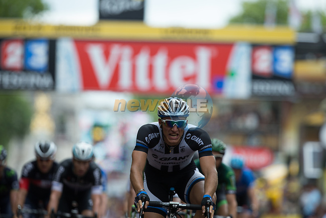 Marcel Kittel (GER) Team Giant-Shimano wins Stage 3 of the 2014 Tour de France running 155km from Cambridge to London. 7th July 2014.<br /> Picture: brakethrough media/www.newsfile.ie