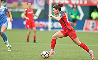 Portland, OR - Saturday April 29, 2017: Hayley Raso during a regular season National Women's Soccer League (NWSL) match between the Portland Thorns FC and the Chicago Red Stars at Providence Park.