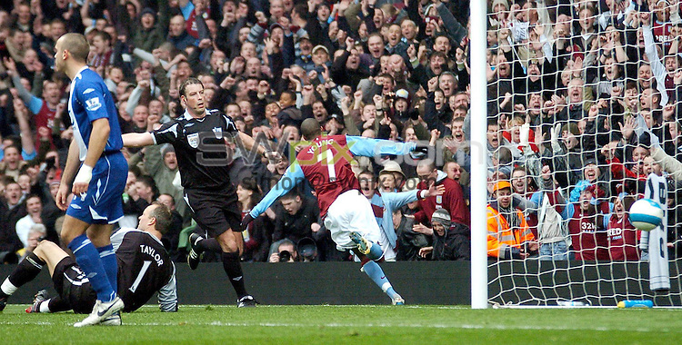 PICTURE BY Will Johnston/SWPIX.COM - Premier league football, Aston Villa v Birmingham City....20/04/08. Copyright - Simon Wilkinson - 07811267706...Aston Villa's Ashley Young reels away after scoring
