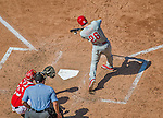 24 May 2015: Philadelphia Phillies infielder Chase Utley pinch hits during a game against the Washington Nationals at Nationals Park in Washington, DC. The Nationals defeated the Phillies 4-1 to take the rubber game of their 3-game weekend series. Mandatory Credit: Ed Wolfstein Photo *** RAW (NEF) Image File Available ***