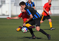 Action from the Capital Division One football match between Miramar Rangers and Stop Out at Wakefield Park in Wellington, New Zealand on Sunday, 16 July 2017. Photo: Dave Lintott / lintottphoto.co.nz