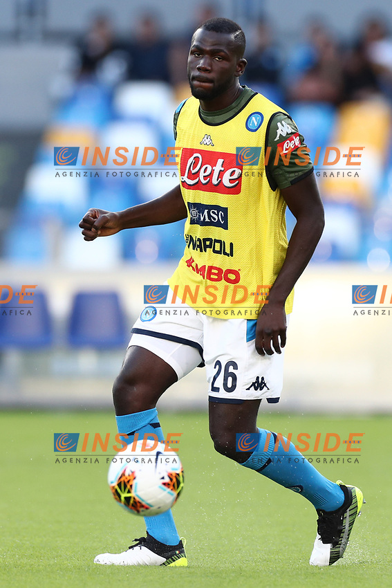 Kalidou Koulibaly of Napoli during the warm up <br /> Napoli 19-10-2019 Stadio San Paolo <br /> Football Serie A 2019/2020 <br /> SSC Napoli - Hellas Verona FC<br /> Photo Cesare Purini / Insidefoto