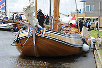 ALGEMEEN: SNEEK: Friese Statenjacht 'Friso' op de Snitser Mar, 30-05-2015, een boeier die in 1894 is gebouwd door Eeltje Holtrop van der Zee ('Eeltsjebaas') in Joure voor Baron van Harinxma thoe Slooten, ©foto Martin de Jong