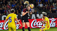 Carson, CA - November 13, 2016: The U.S. Women's National team take a 5-0 lead over Romania with Samantha Mewis contributing a goal in an international friendly game at StubHub Center.