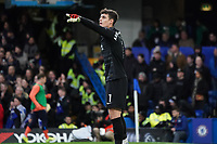 Chelsea's Kepa Arrizabalaga shouts instructions to his team <br /> <br /> Photographer Stephanie Meek/CameraSport<br /> <br /> The Premier League - Chelsea v Everton - Sunday 8th March 2020 - Stamford Bridge - London<br /> <br /> World Copyright © 2020 CameraSport. All rights reserved. 43 Linden Ave. Countesthorpe. Leicester. England. LE8 5PG - Tel: +44 (0) 116 277 4147 - admin@camerasport.com - www.camerasport.com
