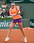 Paula Ormaechea (ARG) loses in only 50 minutes to Maria Sharapova (RUS) 6-0, 6-0at  Roland Garros being played at Stade Roland Garros in Paris, France on May 30, 2014