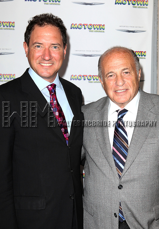 Kevin McCollum and Doug Morris attending the Broadway World Premiere Launch for 'Motown: The Musical' at the Nederlander in New York. Sept. 27, 2012
