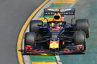 March 16, 2019: Max Verstappen (NLD) #33 from the Aston Martin Red Bull Racing team rounds turn 2 during practice session three at the 2019 Australian Formula One Grand Prix at Albert Park, Melbourne, Australia. Photo Sydney Low