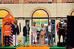 Engeland, London, 26 juli 2012.Olympische Spelen London.Opening Holland Heineken House.Charlene de Carvalho-Heineken betreedt met haar man Michel de Carvalho en Ellen van langen het Holland Heineken House in London