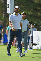 Dustin Johnson (USA) and Francesco Molinari (ITA) head down 13 during 2nd round of the World Golf Championships - Bridgestone Invitational, at the Firestone Country Club, Akron, Ohio. 8/3/2018.<br /> Picture: Golffile | Ken Murray<br /> <br /> <br /> All photo usage must carry mandatory copyright credit (© Golffile | Ken Murray)