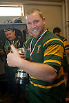 Mark Price with the McNamara Cup. Counties Manukau Club Rugby McNamara Cup Premier Final game between Pukekohe and Patumahoe played at Bayer Growers Stadium, Pukekohe, on Saturday July 2nd 2011. Pukekohe won the T.P. McNamara Cup 35 - 11 after leading 14 - 3 at halftime.