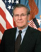 Official Portrait of United States Secretary of Defense Donald H. Rumsfeld taken in the Pentgon in Washington, DC on February 1, 2001.  Mandatory Credit: Scott Davis / U.S. Army via CNP