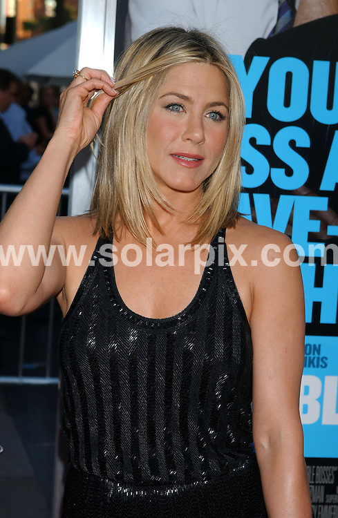 **ALL ROUND PICTURES FROM SOLARPIX.COM**                                 **WORLDWIDE SYNDICATION RIGHTS EXCEPT FOR USA & CANADA - NO PUBLICATION IN USA & CANADA**                   Caption: arrivals at the premiere of the film, HORRIBLE BOSSES  at the Graumans Chinese Theater in Hollywood, Los Angeles, USA. June 30, 2011                                                                                    This pic: Jennifer Aniston                                                                                          JOB REF: 13650 GLS       DATE: 30_06_2011                                                            **MUST CREDIT SOLARPIX.COM OR DOUBLE FEE WILL BE CHARGED**                                                                        **MUST NOTIFY SOLARPIX OF ONLINE USAGE**                 **CALL US ON: +34 952 811 768 or LOW RATE FROM UK 0844 617 7637**