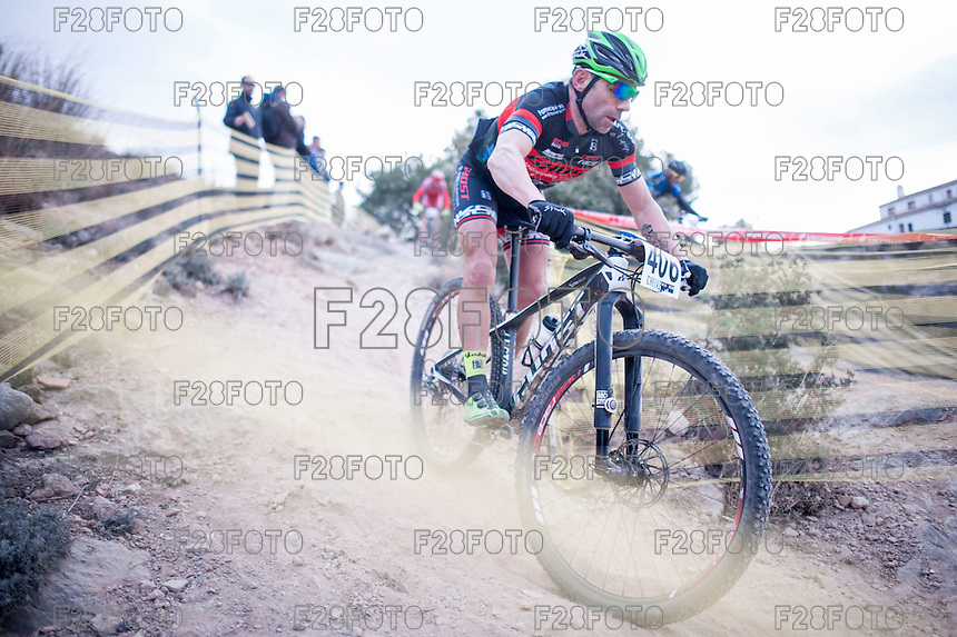 Chelva, SPAIN - MARCH 6: Juan Moya during Spanish Open BTT XCO on March 6, 2016 in Chelva, Spain