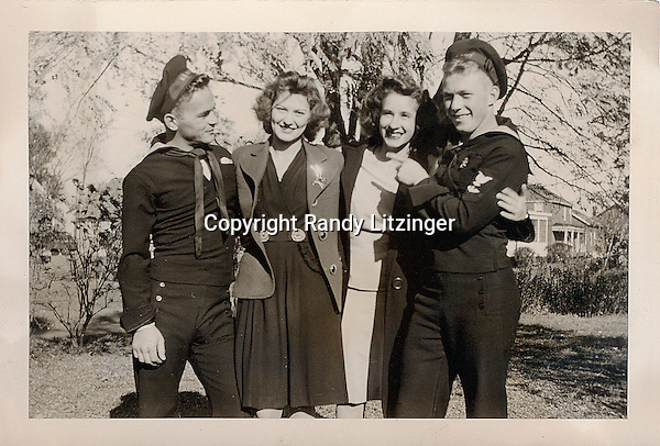 Eugene 'Porky' Paquette, Ada Paquette, Claire Potter, and Wade Litzinger  - 1943, 1944, or 1946