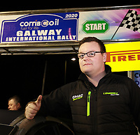 1st February 2020; Galway, Galway, Ireland; Irish Tarmac Rally Championship, Galway International Rally; Cathan McCourt at the start of the 2020 Galway International Rally at the team introductions
