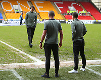 1st March 2020; McDairmid Park, Perth, Perth and Kinross, Scotland; Scottish Premiership Football, St Johnstone versus Celtic; Scott Brown of Celtic inspects the pitch before the match