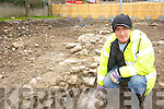 Archaeologist Frank Coyle at the dig in the Abbey carpark, Tralee on Wednesday.   Copyright Kerry's Eye 2008