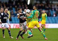 9th February 2020; The Den, London, England; English Championship Football, Millwall versus West Bromwich Albion; Jayson Molumby of Millwall challenges Kyle Bartley of West Bromwich Albion