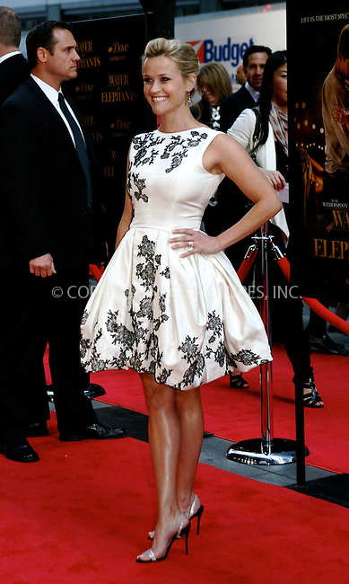 WWW.ACEPIXS.COM . . . . .  ....April 17 2011, New York City....Actress Reese Witherspoon arriving at the 'Water For Elephants' premiere at the Ziegfeld Theatre on April 17, 2011 in New York City.....Please byline: NANCY RIVERA- ACEPIXS.COM.... *** ***..Ace Pictures, Inc:  ..Tel: 646 769 0430..e-mail: info@acepixs.com..web: http://www.acepixs.com