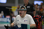 Jamie McCowan (GB)<br /> BISFed 2018 World Boccia Championships <br /> Exhibition Centre Liverpool<br /> 12.08.18<br /> &copy;Steve Pope<br /> Sportingwales