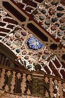 Spanien, Kanarische Inseln, La Palma,  San Salvador an der Plaza España, Holzdecke im Mudejar-Stil