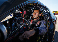 Sep 4, 2016; Clermont, IN, USA; NHRA pro stock driver Vincent Nobile during qualifying for the US Nationals at Lucas Oil Raceway. Mandatory Credit: Mark J. Rebilas-USA TODAY Sports