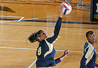 Florida International University women's volleyball player Silvia Carli (9) plays against Tulane University.  FIU won the match 3-2 on September 9, 2011 at Miami, Florida. .