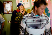 Venice, California, December 8, 2008 - Brothers and long board surfers Chad (R) and Trace Marshall at the Mollusk Surf Shop in Venice Beach. The brothers along with Rick Klotz created the clothing line, Warriors of Radness.