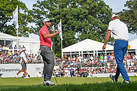 Jon Rahm (ESP) after sinking his putt on 18 during Rd4 of the 2019 BMW Championship, Medinah Golf Club, Chicago, Illinois, USA. 8/18/2019.<br /> Picture Ken Murray / Golffile.ie<br /> <br /> All photo usage must carry mandatory copyright credit (© Golffile | Ken Murray)