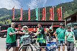 06.07.2019, Parkstadion, Zell am Ziller, AUT, TL Werder Bremen - Tag 03<br /> <br /> Von Bremen mit dem Rad ins Zillertal - auch ein Gabelbruch kurz vor Hannover konnte ihn nicht stoppen.<br /> <br /> Nach 870 km auf dem Rad in acht Tagen _ davon drei Tage Zwangspause in Hannover kam der Werder Fan Maik Kuntze erschöpft und vom Sturz gekennzeichnet in Zell am Ziller an. Seine ersten Worte - ich brauche nun erstmal eine Dusche - und wie bekomme ich mein Rad wieder nach Hause.<br /> <br /> Da der Gabelbruch einiges aus der Reisekasse gekostet hat, sammelten sofort Fan Mitglieder einen ansehnlichen dreistelligen Betrag<br /> <br /> im Bild / picture shows <br /> <br /> Fan´s von Werder Bremen übergeben an Maik Kuntze den stattlichen Betrag für sein  Rad<br /> <br /> <br /> Foto © nordphoto / Kokenge