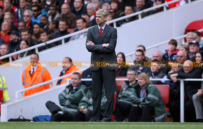 Arsenal manager Arsene Wenger - Arsenal vs Manchester United, Barclays Premier League at the Emirates, Arsenal - 28/04/13 - MANDATORY CREDIT: Rob Newell/TGSPHOTO - Self billing applies where appropriate - 0845 094 6026 - contact@tgsphoto.co.uk - NO UNPAID USE.