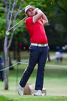 Tyrell Hatton (ENG) watches his tee shot on 7 during round 2 of the World Golf Championships, Mexico, Club De Golf Chapultepec, Mexico City, Mexico. 3/3/2017.<br /> Picture: Golffile | Ken Murray<br /> <br /> <br /> All photo usage must carry mandatory copyright credit (&copy; Golffile | Ken Murray)