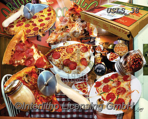 Lori, STILL LIFE STILLEBEN, NATURALEZA MORTA, paintings+++++Pizza Restaurant Puzzle_4_72,USLS38,#I#, EVERYDAY ,puzzles ,collage