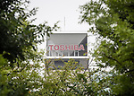 September 7, 2015, Tokyo, Japan - A view of the Toshiba Corporation headquarters in downtown Tokyo. The accounting scandal hit electronics maker logged a 37.8 billion yen net loss for FY 2014 as probe discovers a 155 bilion yen padding. (Photo by AFLO)
