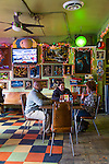 The Bottletree restaurant and music venue located in the Avondale district of Birmingham, Alabama.  Employees of the non-profit organization REV having lunch.