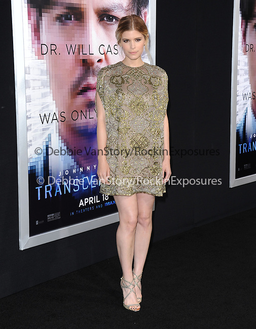 """Kate Mara attends The L.A. Premiere of Alcon Entertainment's """"TRANSCENDENCE"""" held at The Regency Village Theater in Westwood, California on April 10,2014                                                                               © 2014Hollywood Press Agency"""