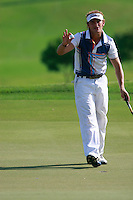 Joost Luiten (NED) sinks putt on the 9th green during Sundays Final Round 3 of the 54 hole Iskandar Johor Open 2011 at the Horizon Hills Golf Resort Johor, Malaysia, 19th November 2011 (Photo Eoin Clarke/www.golffile.ie)